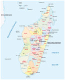 Madagascar administrative map. Administrative and political map of the African island republic Madagascar Stock Photos