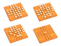 Madagascar checkers isolated on white Royalty Free Stock Photography