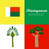 madagascar De achtergrond van de onafhankelijkheid Day Royalty-vrije Stock Foto's