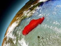 Madagascar de la órbita de Earth modelo Fotos de archivo