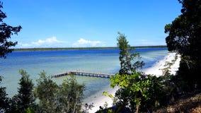 Madagascar ensam strand arkivfoto
