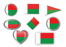 Madagascar flag Stock Photo
