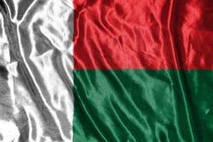 Madagascar flag.flag on background Stock Image