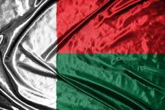 Madagascar flag.flag on background Royalty Free Stock Photo