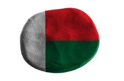 Madagascar flag,flag clay on white background Stock Images