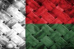 Madagascar flag, flag on the wood Royalty Free Stock Image