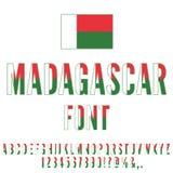 Madagascar Flag Font Royalty Free Stock Image