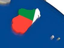 Madagascar with flag Royalty Free Stock Photos