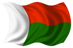 Madagascar flag isolated Stock Photography