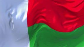 Madagascar flaga falowanie w Wiatrowym Ciągłym Bezszwowym pętli tle ilustracja wektor