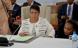 Madagascar Foreign Minister Beatrice Atallah at the Summit of the Francophonie held in Antananarivo, Madagascar