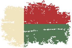 Madagascar grunge flag. Vector illustration. Stock Photos