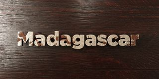 Madagascar - grungy wooden headline on Maple  - 3D rendered royalty free stock image Royalty Free Stock Photography