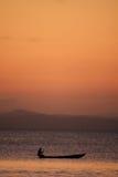 Madagascar havssolnedgång Arkivbild