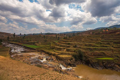 Madagascar highland landscape Royalty Free Stock Photography
