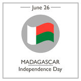 Madagascar Independence Day, June 26. Vector illustration for you design, card, banner, poster and calendar Royalty Free Stock Images