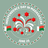 Madagascar Independence Day label. Vector. Stock Photography