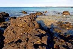 madagascar      in indian ocean  sand isle   rock Royalty Free Stock Photo