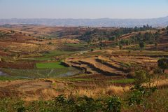 Madagascar landscape. Landscape from Madagascar, south of the capital Antananarivo Royalty Free Stock Images