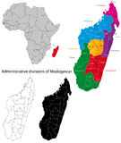Madagascar map Stock Image