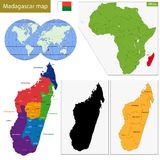 Madagascar map Royalty Free Stock Images