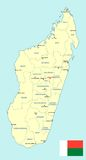 Madagascar map - cdr format Royalty Free Stock Photo