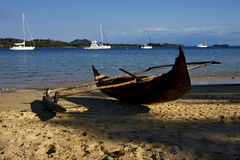 Free Madagascar Nosy Be Rock Stone Branch Yacht Boat Stock Images - 28226904