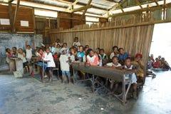 Malagasy school children in classroom, Madagascar Royalty Free Stock Photos