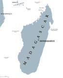 Madagascar political map stock illustration