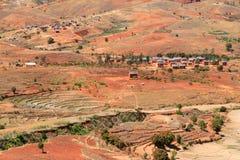 Madagascar red landscape Stock Photo