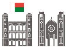 Madagascar.  Set. Madagascar. Architecture. Set. Vector illustration (EPS Royalty Free Stock Image