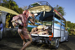 Madagascar slaughterhouse Royalty Free Stock Photos