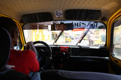 Madagascar Taxi. A ride inside a typical Madagascar taxi. Photo taken o/a 3/25/2013 Stock Photo
