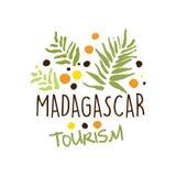Madagascar tourism logo template hand drawn vector Illustration Royalty Free Stock Photos