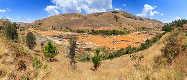 Madagascar valley panorama Stock Photography