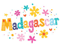 Madagascar vector lettering decorative type Royalty Free Stock Images