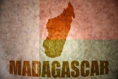 Madagascar vintage map Royalty Free Stock Image