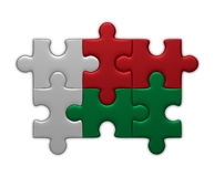 Madagaskar flag of puzzles Stock Images
