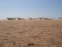 Madagaskar-Sturm auf Strand-Booten Lizenzfreie Stockfotografie