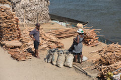 Madagassisches Völkeralltagsleben in Madagaskar Lizenzfreies Stockfoto