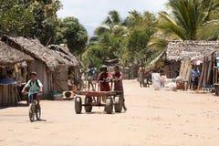 Madagassisches Völkeralltagsleben in Madagaskar Stockbild