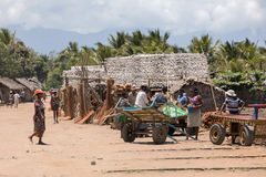 Madagassisches Völkeralltagsleben in Madagaskar Lizenzfreie Stockfotos