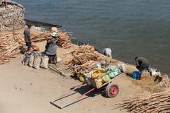 Madagassisches Völkeralltagsleben in Madagaskar Stockbilder