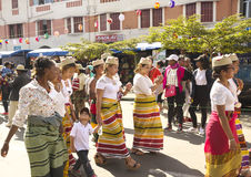 Madagassisk karnevalberöm royaltyfri foto