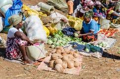 Madagassisk marknad arkivbilder