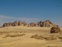 Madain Saleh, archäologische Fundstätte mit Nabatean-Gräbern in Saudi-Arabien KSA stockbilder