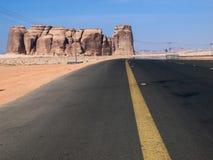 Madain Saleh, arch?ologische Fundst?tte mit Nabatean-Gr?bern in Saudi-Arabien KSA lizenzfreie stockbilder