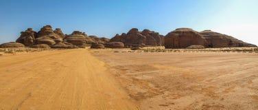 Madain Saleh, archeologische plaats met Nabatean-graven in Saudi-Arabië KSA royalty-vrije stock foto
