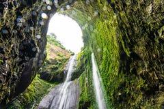 Madakaripura waterfall in Indonesia stock images