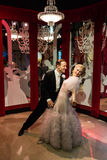 Madam Tussauds Fred Astaire och Ginger Rogers Royaltyfria Foton